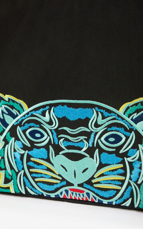BLACK Document Holder Tiger for unisex KENZO