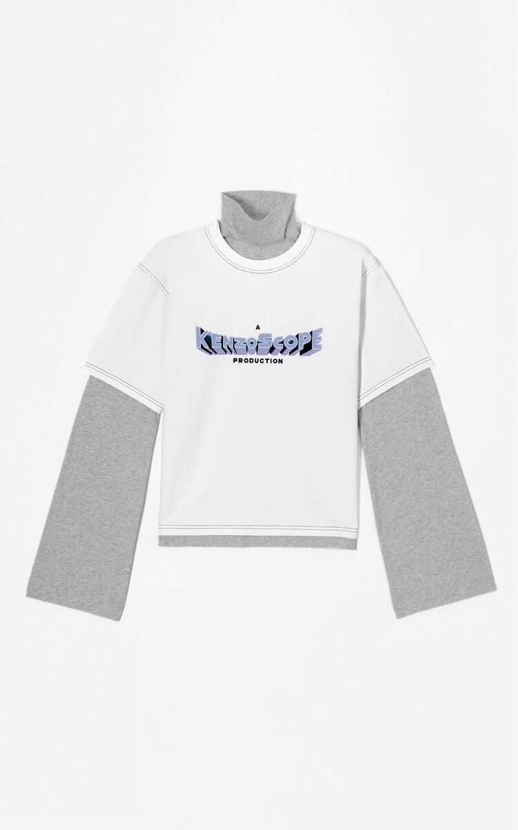 WHITE 2 in 1 'Kenzoscope' t-shirt for women