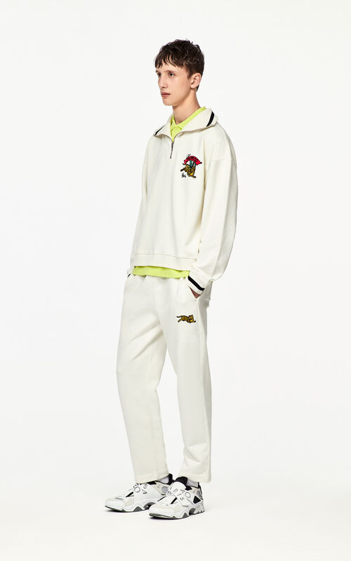 ECRU 'Jumping Tiger' jogging trousers for men KENZO
