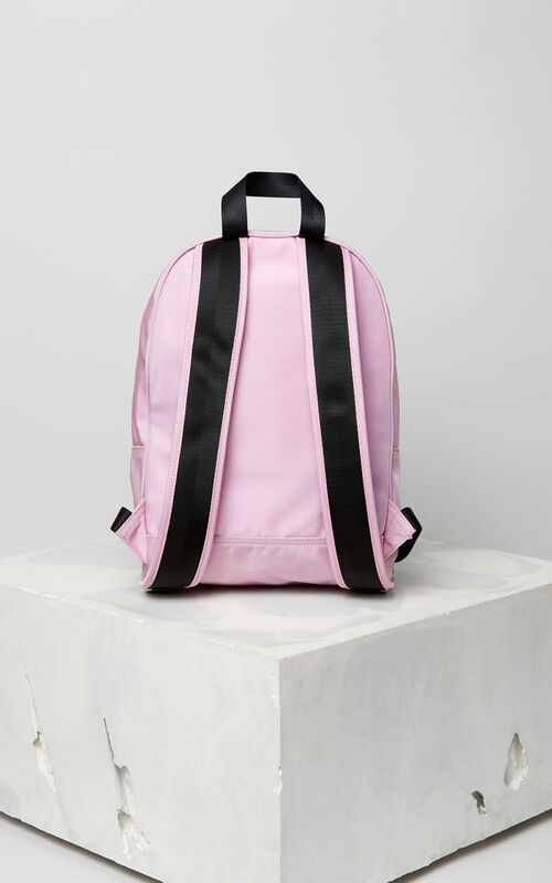 FLAMINGO PINK Medium Tiger Canvas backpack for women KENZO