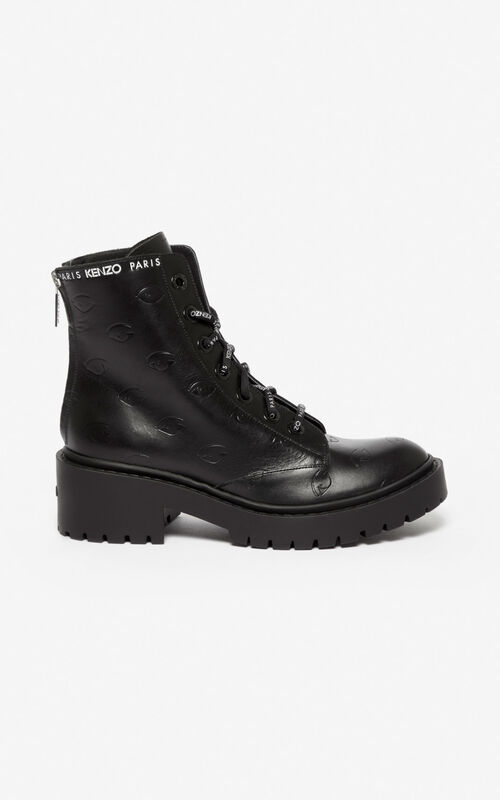 BLACK Pike Eye boots  for women KENZO