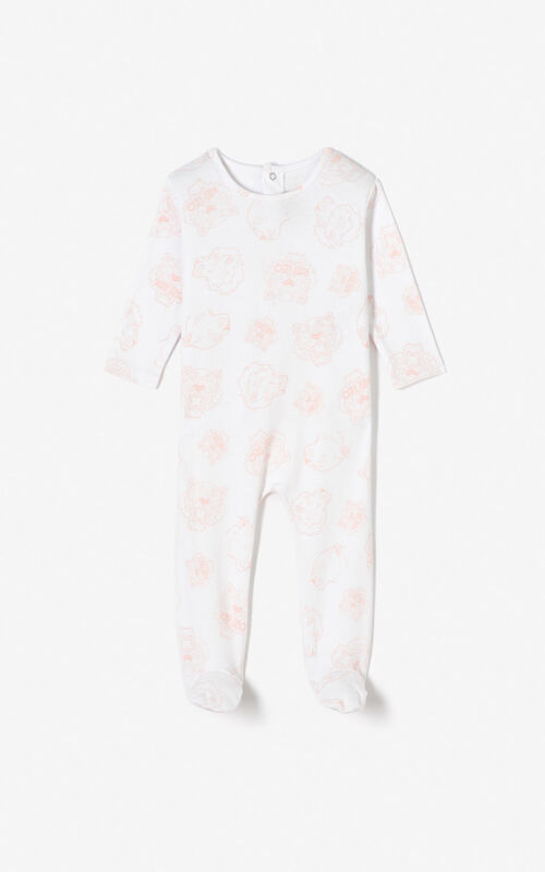 PASTEL PINK Set of 2 Tiger sleepsuits for unisex KENZO