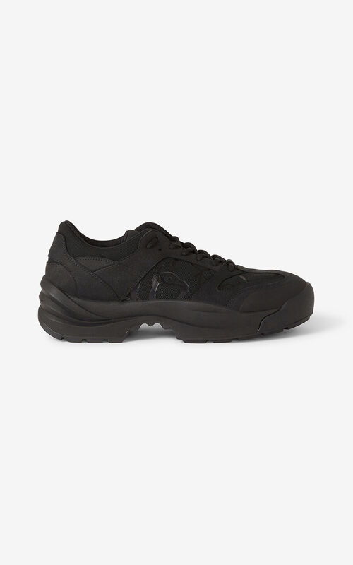 BLACK KENZO Work sneakers for unisex