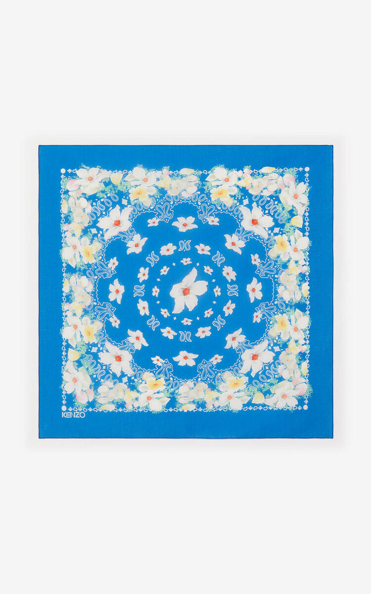 COBALT Floral bandana scarf for women KENZO