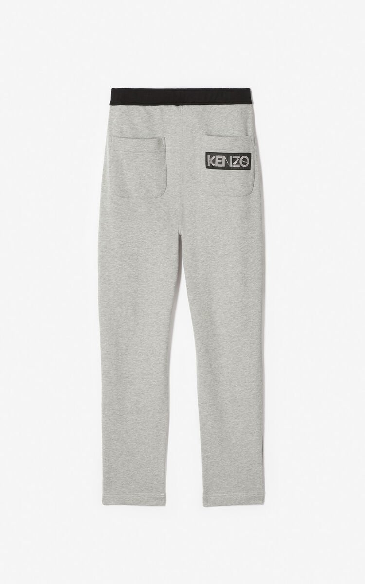 WHITE KENZO logo jogging trousers for men