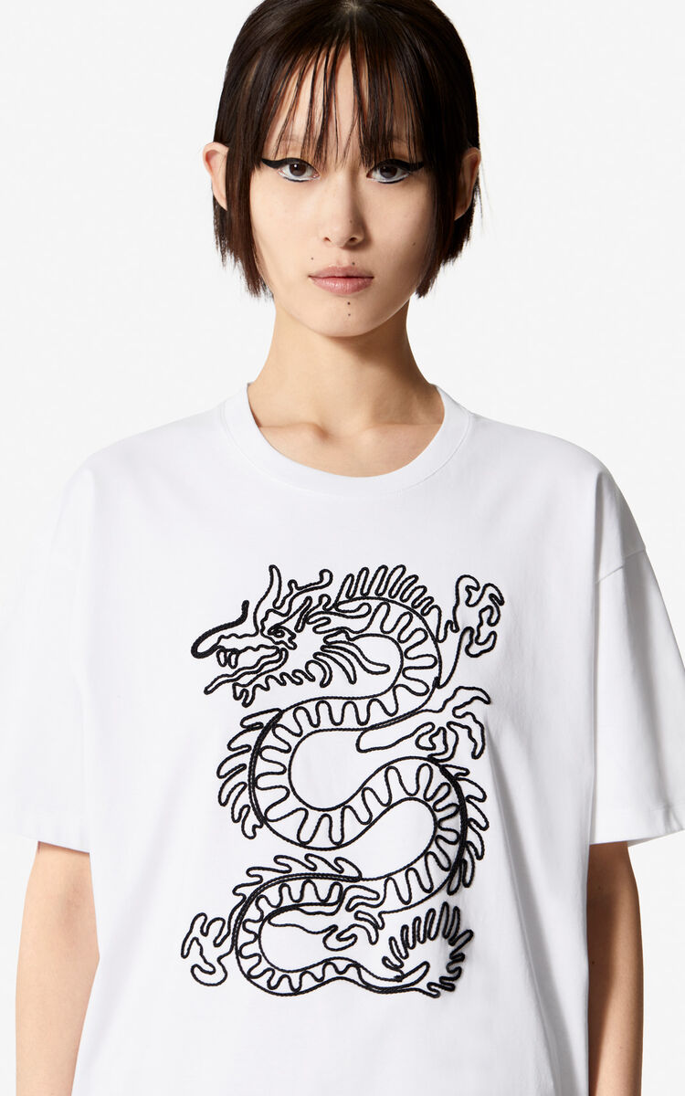 WHITE 'Color by Kenzo' t-shirt for women