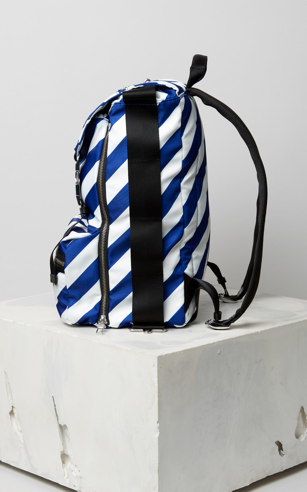 DEEP SEA BLUE Large striped 'Hyper KENZO' backpack for women