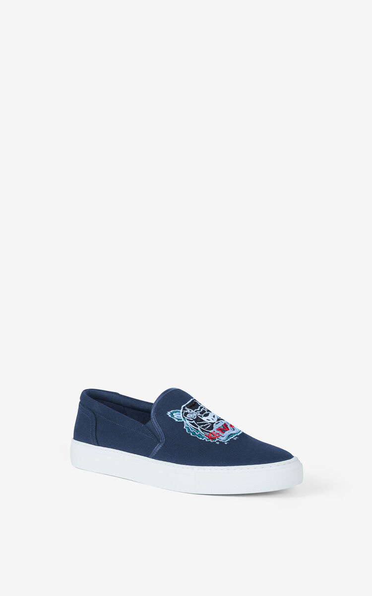 NAVY BLUE K-Skate Tiger lace-free trainers for unisex KENZO