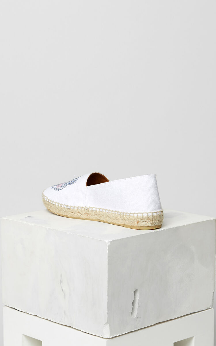 WHITE Tiger espadrilles for women KENZO