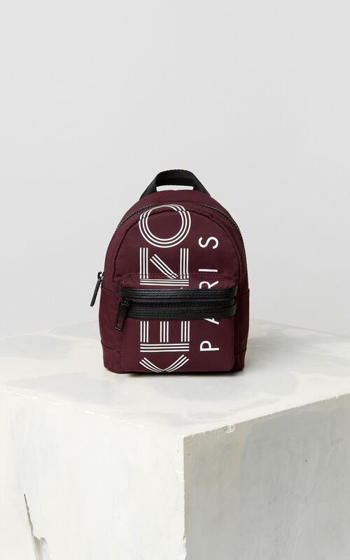 BORDEAUX KENZO Logo mini backpack for unisex