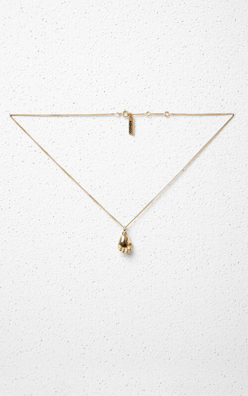 GOLD Tiger Paw Necklace for women KENZO