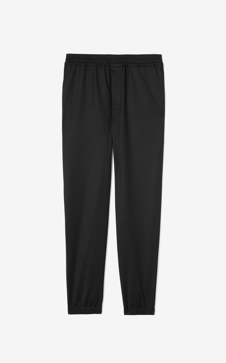 BLACK Wool joggers for men KENZO