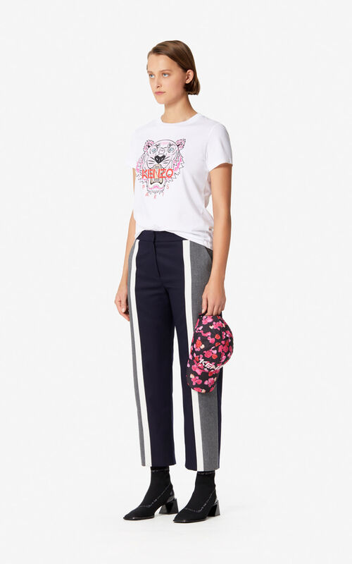 MIDNIGHT BLUE Colour block flannel trousers for women KENZO
