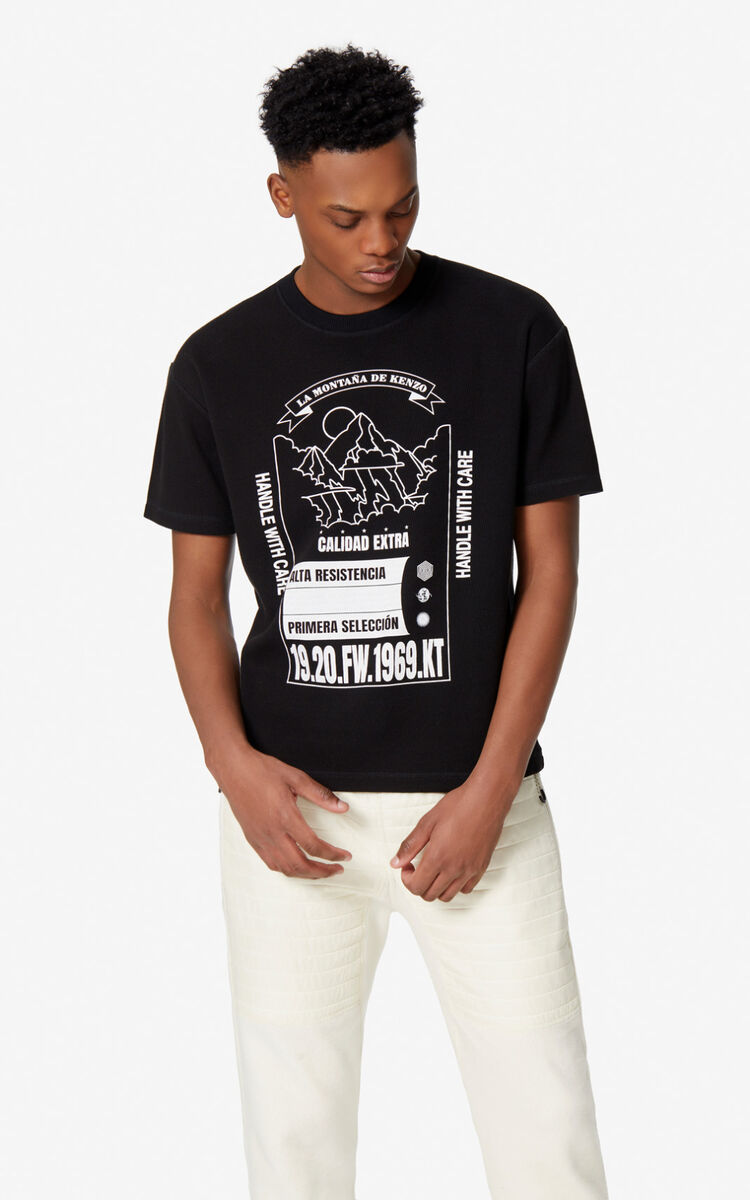 BLACK 'KENZO Mountain' t-shirt' for men