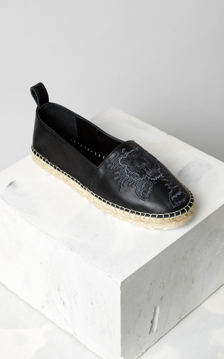 BLACK Geo-Tiger' Espadrilles  for unisex KENZO