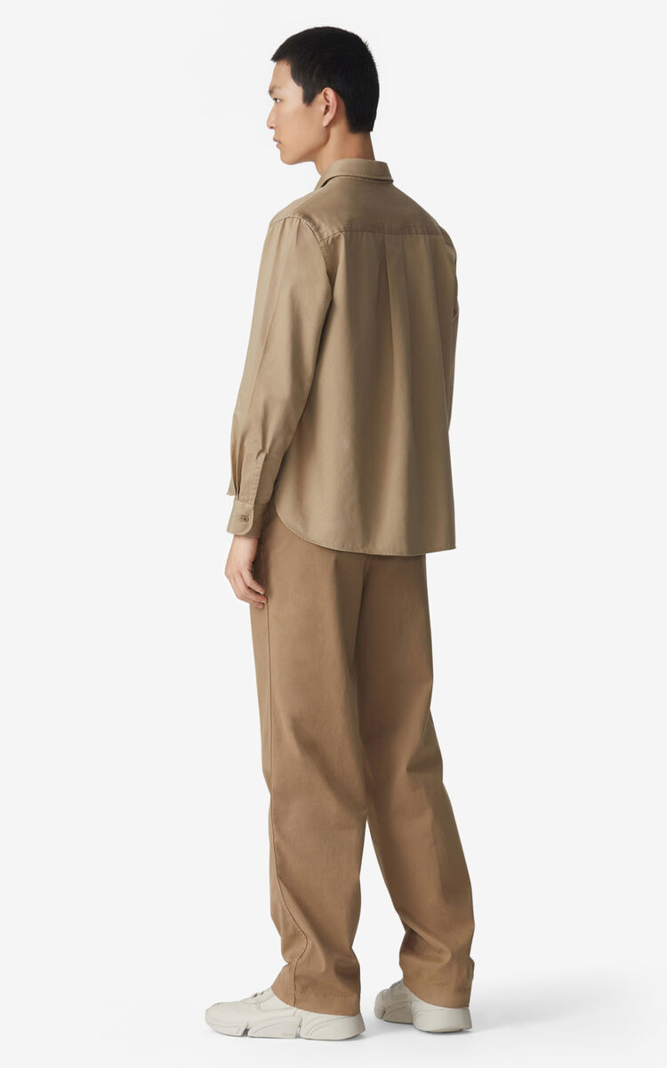 DARK BEIGE Chino trousers for men KENZO