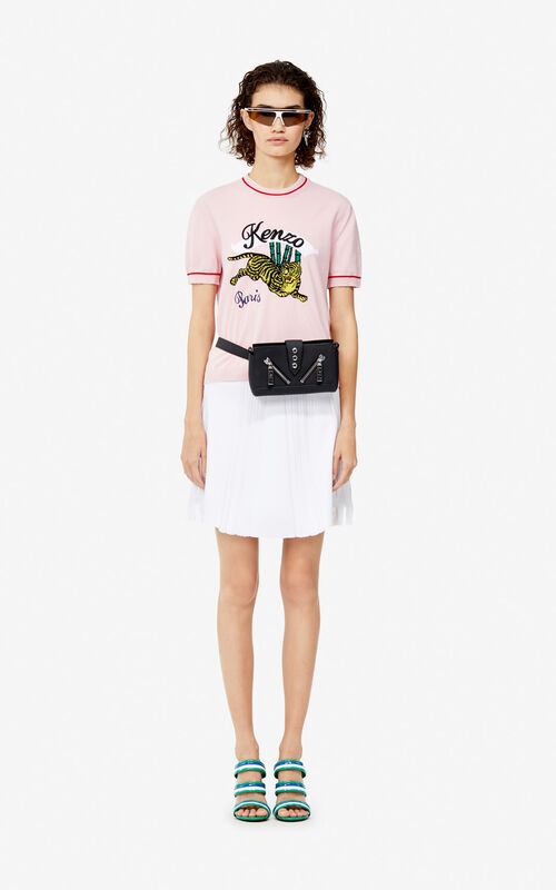 PASTEL PINK 'Bamboo Tiger' top for women KENZO
