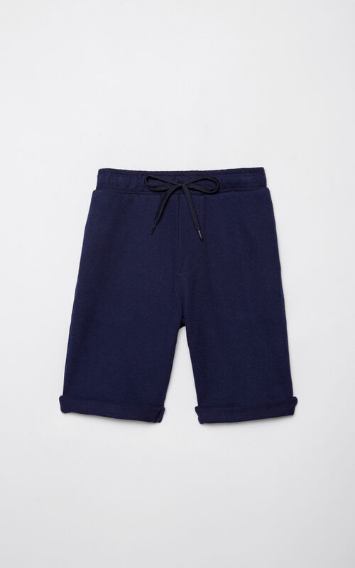 NAVY BLUE Pique knit bermuda shorts for women KENZO
