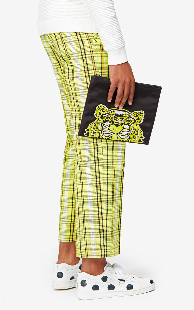 BLACK A4 Tiger clutch 'High Summer Capsule collection' for unisex KENZO