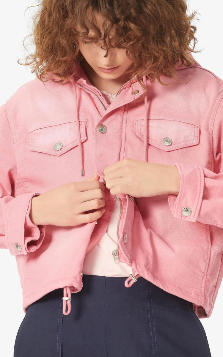 FLAMINGO PINK Denim jacket for women KENZO