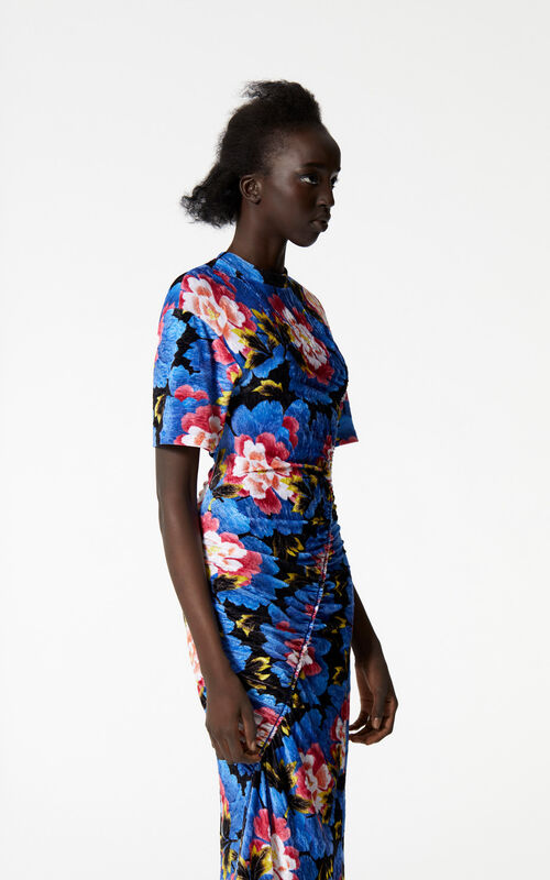 BLACK Velvet 'Indonesian Flower' dress for women KENZO