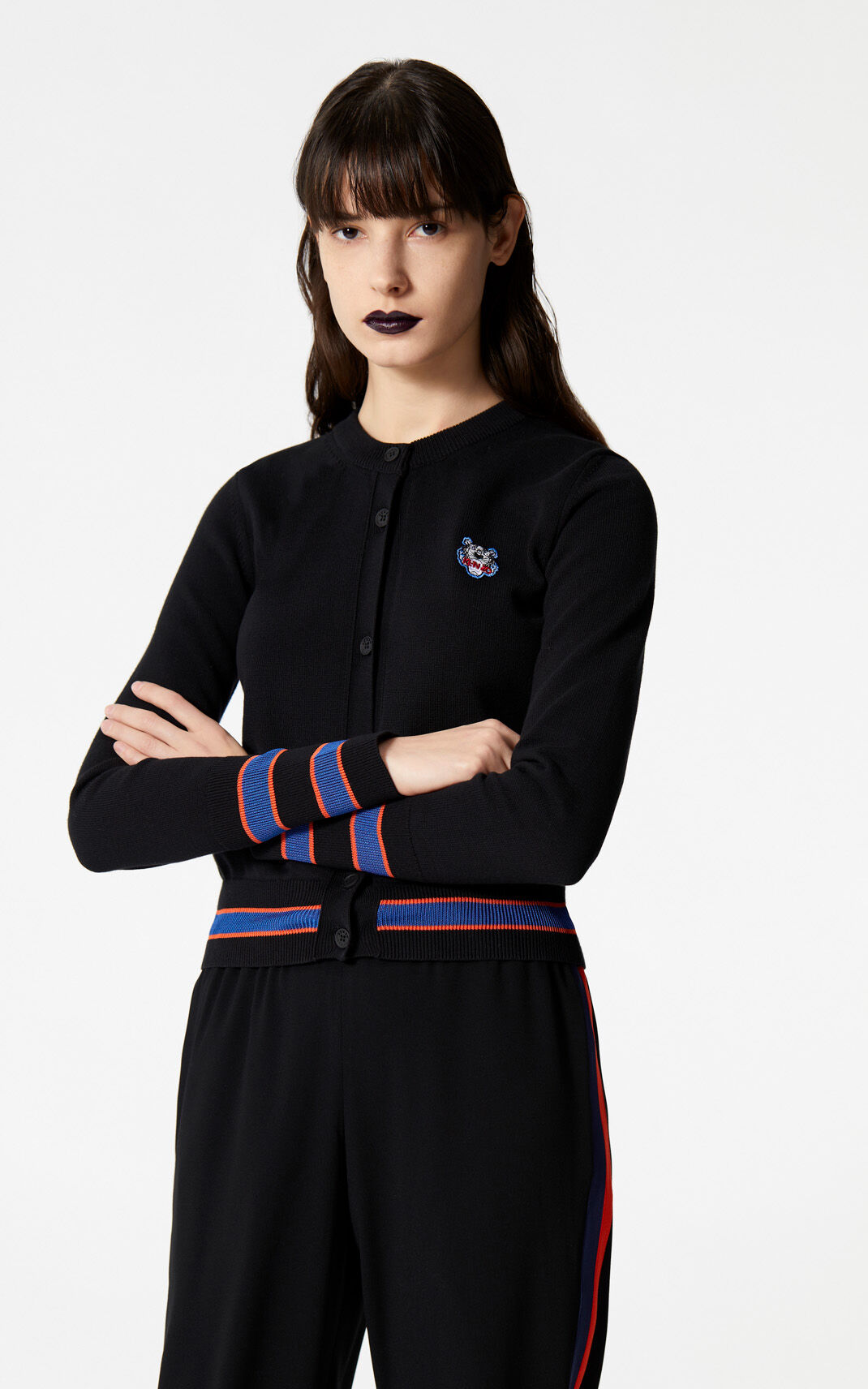 BLACK Tiger cardigan for women KENZO