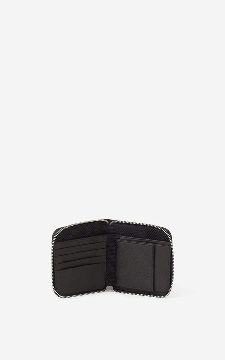 NAVY BLUE Courier small zipped jacquard wallet for unisex KENZO