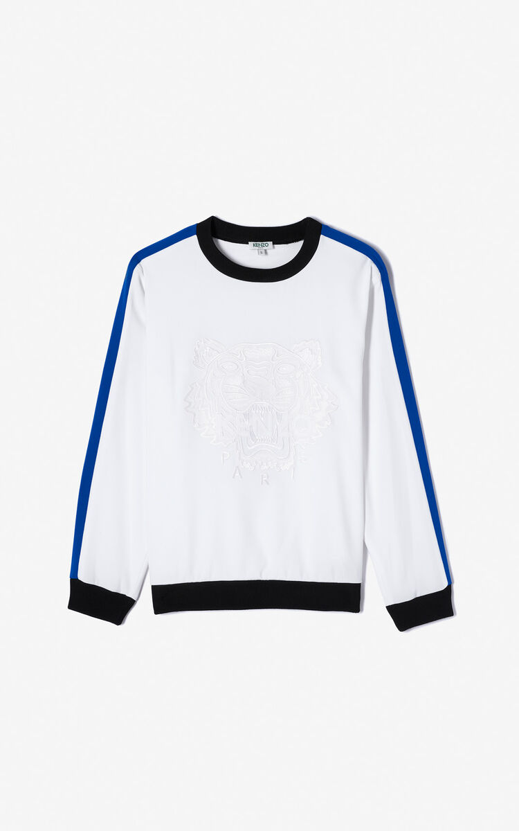 WHITE Crepe Tiger top for women KENZO