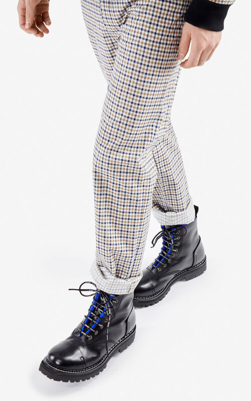 FRENCH BLUE Two-tone Pike boots for men KENZO