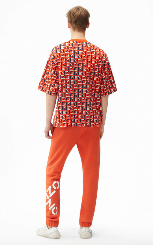 DEEP ORANGE KENZO Sport monogram jacquard jumper for men