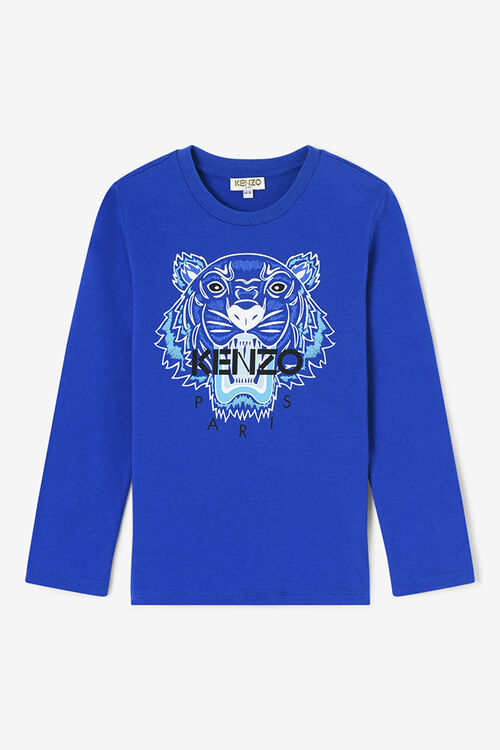 Tiger Long T-shirt , ROYAL BLUE, KENZO