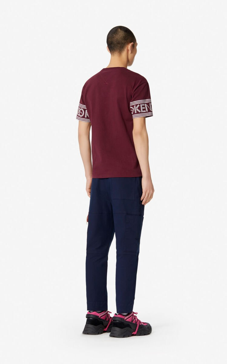BORDEAUX KENZO Logo T-shirt   for men