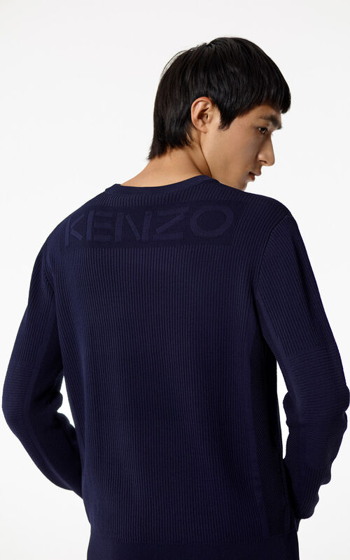 INK Ribbed KENZO Logo jumper for men