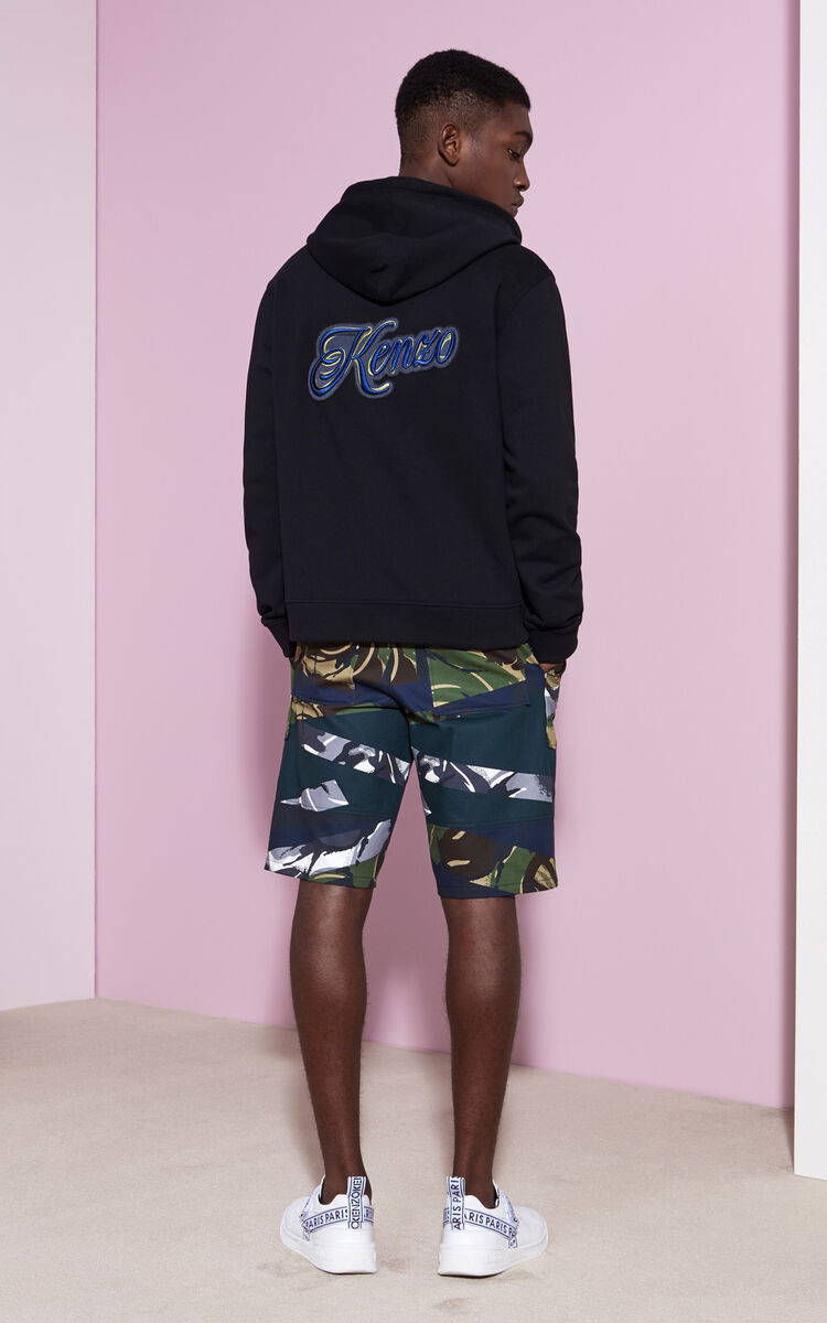 BLACK 'Disco Lyrics' Hoodie for men KENZO