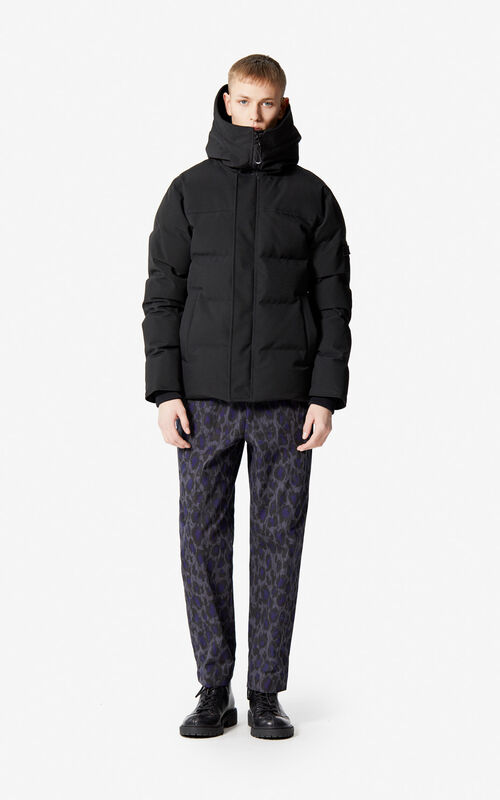 BLACK Quilted down jacket for men KENZO
