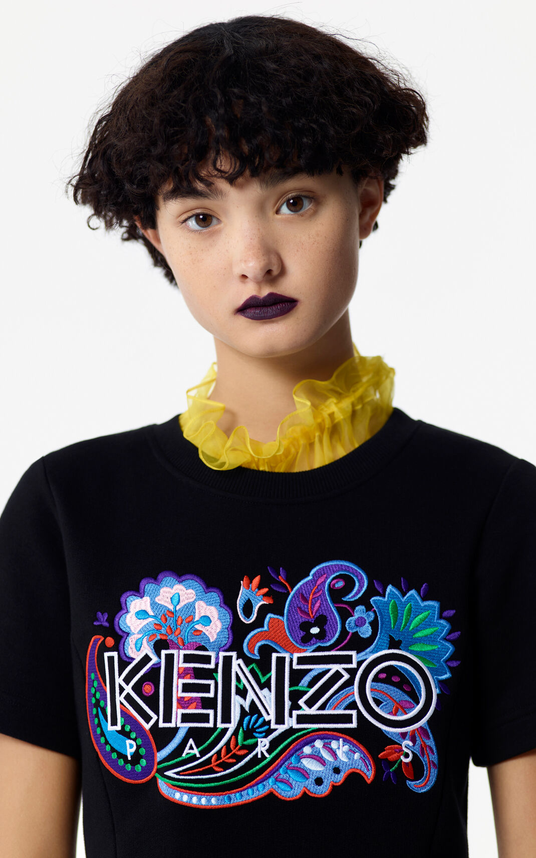BLACK Paisley fit and flare dress for women KENZO