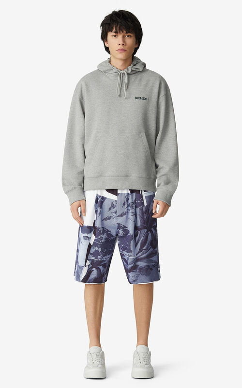 PEARL GREY 'Hawaiian Graffiti' 'High Summer Capsule' hooded sweatshirt for men KENZO