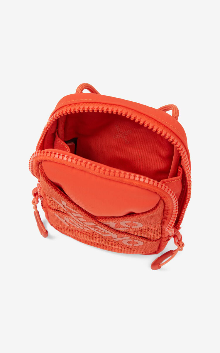 DEEP ORANGE KENZO Sport crossbody phone holder for men