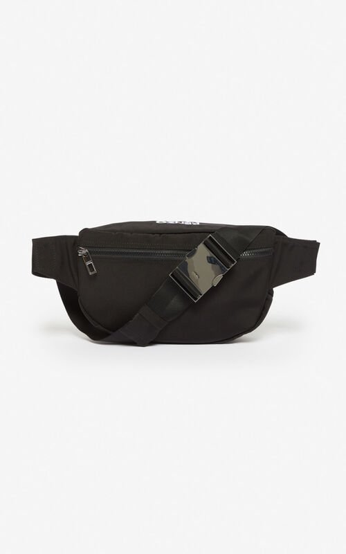 BLACK Tiger belt bag for unisex KENZO