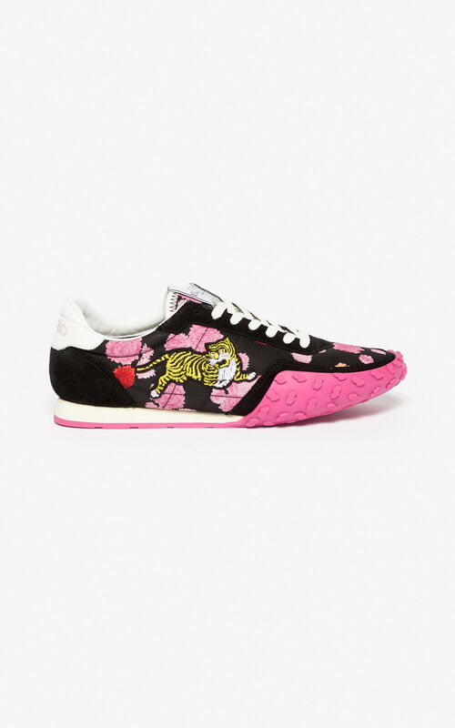 DEEP FUSCHIA KENZO Move 'Peonie' sneakers for unisex