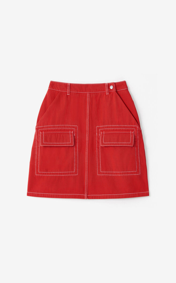 MEDIUM ORANGE Short straight skirt for women KENZO
