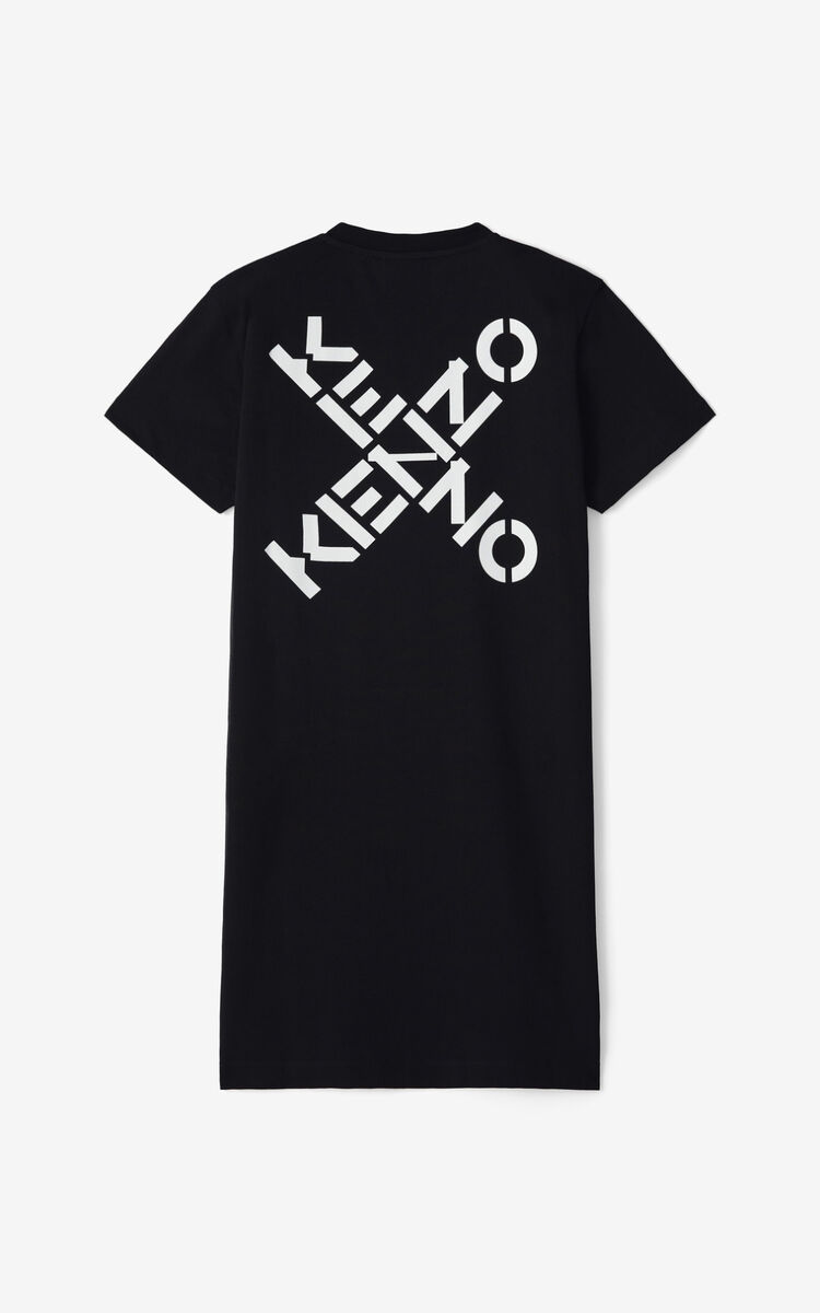 BLACK KENZO Sport 'Little X' t-shirt dress for men