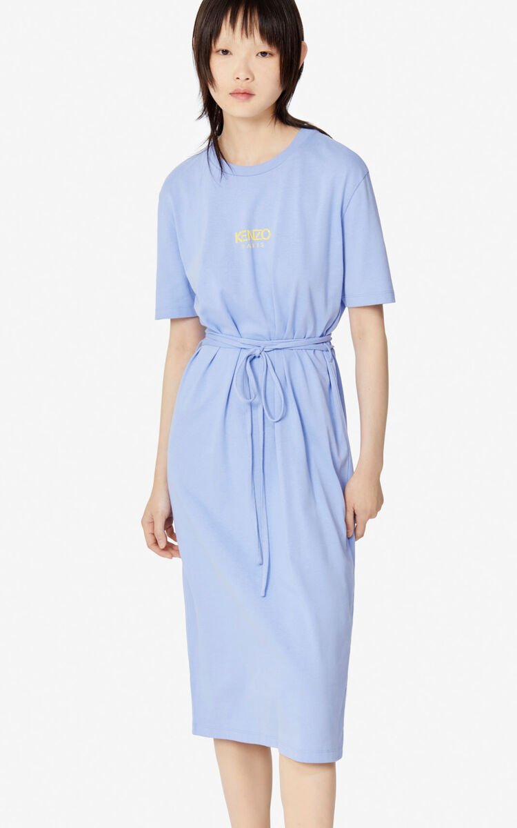 LAVENDER T-shirt dress KENZO LOGO for women