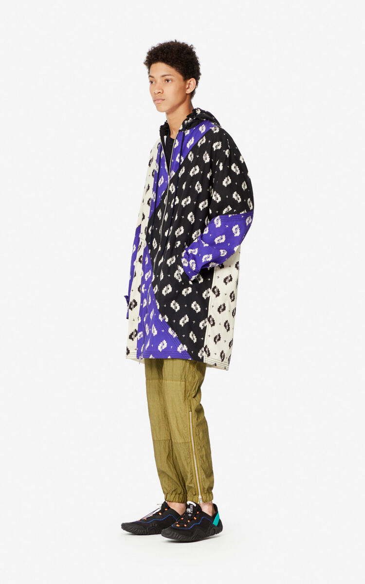 OFF WHITE 'Ikat' oversized parka for men KENZO