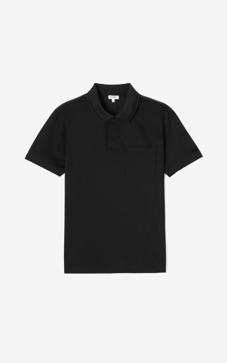 BLACK Fitted polo shirt  for men KENZO