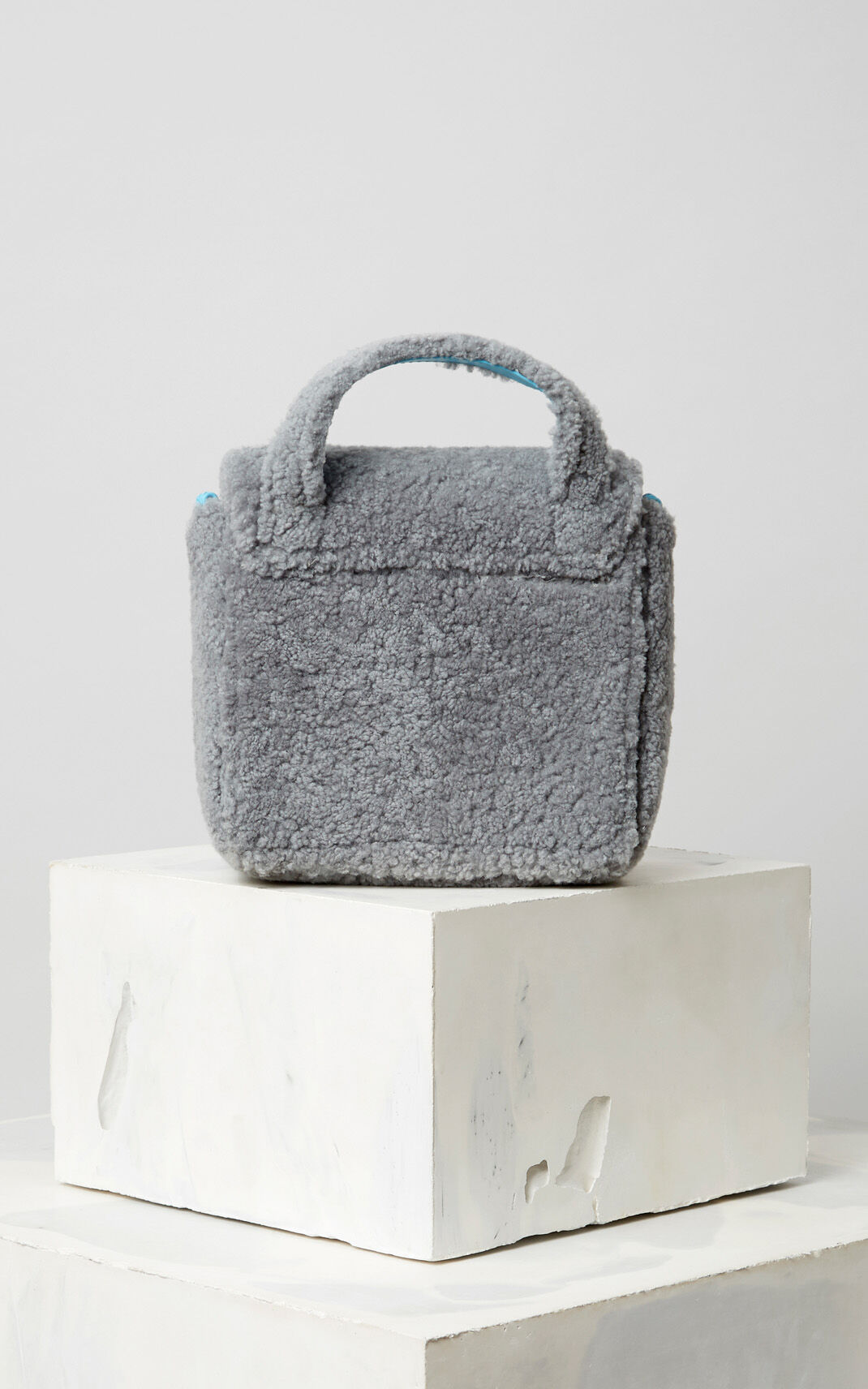 PALE GREY Shearling Sailor bag for women KENZO