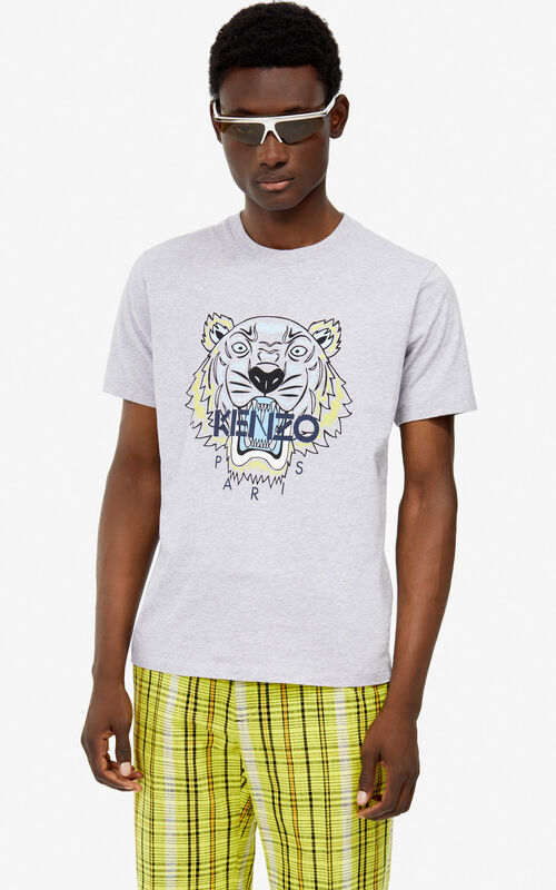 0658dbabed0 PEARL GREY Tiger t-shirt for men KENZO ...