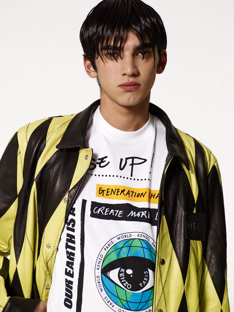 WHITE 'Rise Up' T-shirt for men KENZO