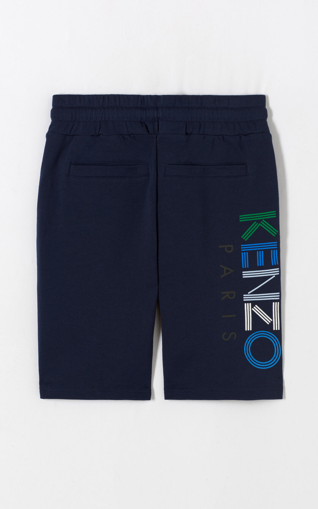 INK Multicolor KENZO Logo Shorts for men