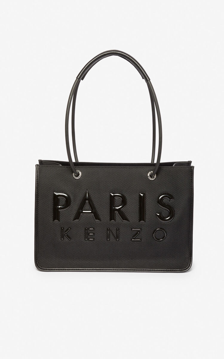 BLACK Kombo tote bag for unisex KENZO